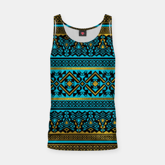 Miniaturka Mexican Style pattern - black, teal and gold Tank Top, Live Heroes