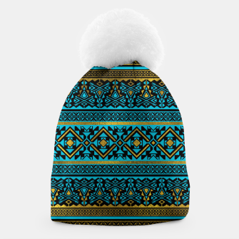 Miniaturka Mexican Style pattern - black, teal and gold Beanie, Live Heroes