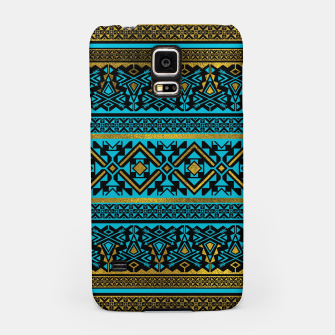 Miniaturka Mexican Style pattern - black, teal and gold Samsung Case, Live Heroes