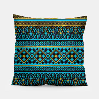 Miniaturka Mexican Style pattern - black, teal and gold Pillow, Live Heroes