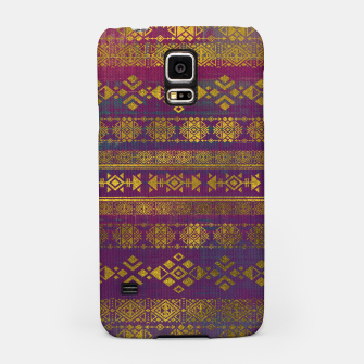 Miniaturka Mexican /Tribal Style pattern - Gold on Vintage purple Samsung Case, Live Heroes