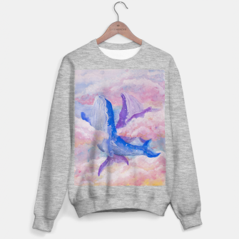 Miniatur Whales in clouds Sweater regular, Live Heroes