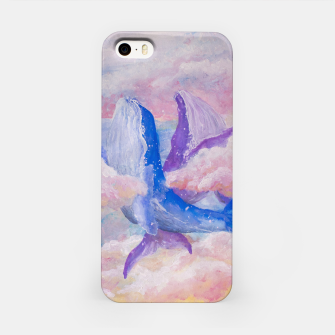 Miniatur Whales in clouds iPhone Case, Live Heroes