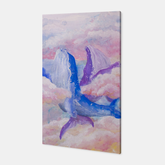 Miniatur Whales in clouds Canvas, Live Heroes