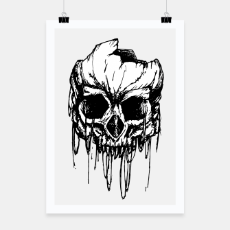 Thumbnail image of Skull wreck Poster, Live Heroes