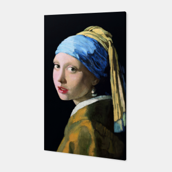 Thumbnail image of Girl with the Pearl Earring Canvas, Live Heroes