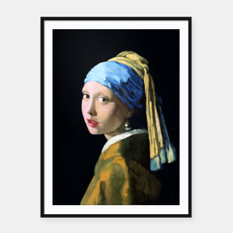 Thumbnail image of Girl with the Pearl Earring Framed poster, Live Heroes