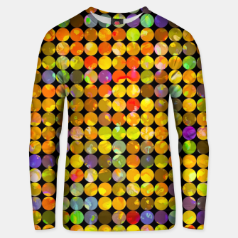 Miniaturka colorful geometric circle pattern abstract in orange yellow blue red Cotton sweater, Live Heroes