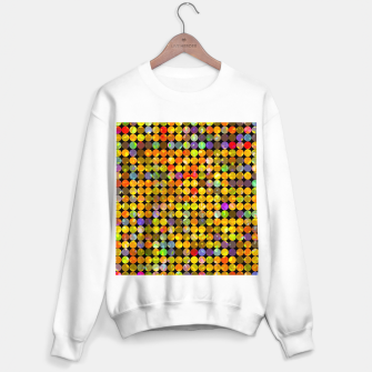 Miniaturka colorful geometric circle pattern abstract in orange yellow blue red Sweater regular, Live Heroes
