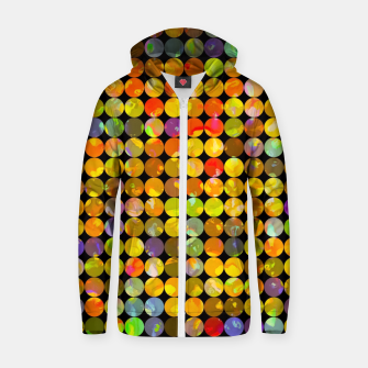 Miniaturka colorful geometric circle pattern abstract in orange yellow blue red Cotton zip up hoodie, Live Heroes