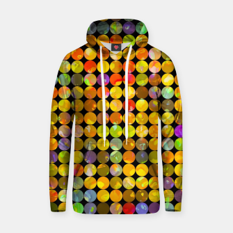 Miniaturka colorful geometric circle pattern abstract in orange yellow blue red Cotton hoodie, Live Heroes