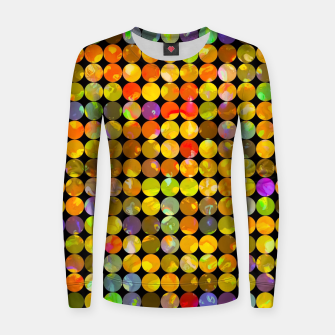Miniaturka colorful geometric circle pattern abstract in orange yellow blue red Woman cotton sweater, Live Heroes