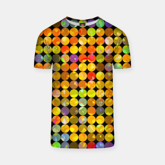 Miniaturka colorful geometric circle pattern abstract in orange yellow blue red T-shirt, Live Heroes