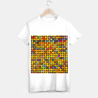 Miniaturka colorful geometric circle pattern abstract in orange yellow blue red T-shirt regular, Live Heroes