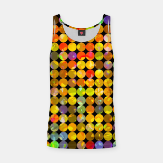 Miniaturka colorful geometric circle pattern abstract in orange yellow blue red Tank Top, Live Heroes