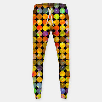 Miniaturka colorful geometric circle pattern abstract in orange yellow blue red Cotton sweatpants, Live Heroes