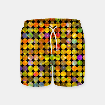 Miniaturka colorful geometric circle pattern abstract in orange yellow blue red Swim Shorts, Live Heroes