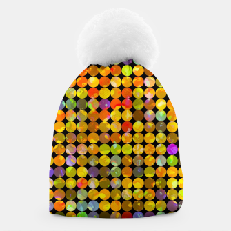 Miniaturka colorful geometric circle pattern abstract in orange yellow blue red Beanie, Live Heroes