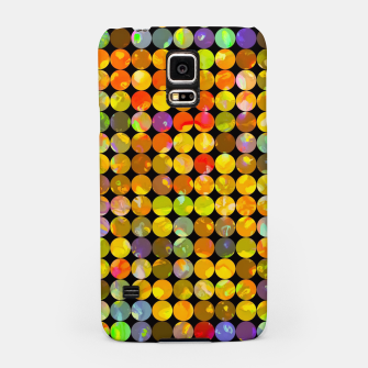 Miniaturka colorful geometric circle pattern abstract in orange yellow blue red Samsung Case, Live Heroes