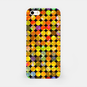 Miniaturka colorful geometric circle pattern abstract in orange yellow blue red iPhone Case, Live Heroes