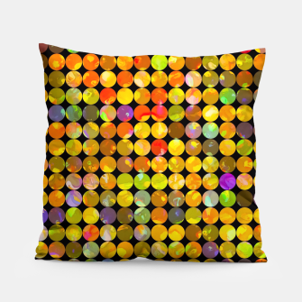 Miniaturka colorful geometric circle pattern abstract in orange yellow blue red Pillow, Live Heroes