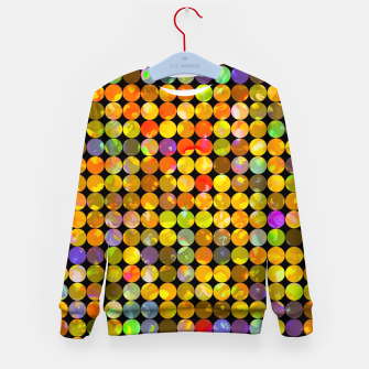 Miniaturka colorful geometric circle pattern abstract in orange yellow blue red Kid's sweater, Live Heroes