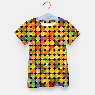 Miniaturka colorful geometric circle pattern abstract in orange yellow blue red Kid's t-shirt, Live Heroes
