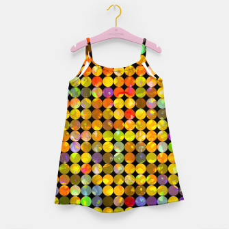 Miniaturka colorful geometric circle pattern abstract in orange yellow blue red Girl's dress, Live Heroes