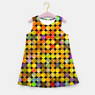 Miniaturka colorful geometric circle pattern abstract in orange yellow blue red Girl's summer dress, Live Heroes