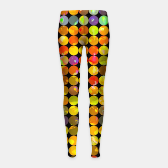 Miniaturka colorful geometric circle pattern abstract in orange yellow blue red Girl's leggings, Live Heroes
