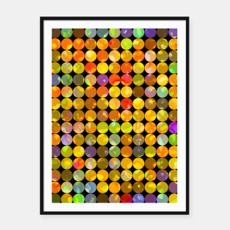 Miniaturka colorful geometric circle pattern abstract in orange yellow blue red Framed poster, Live Heroes