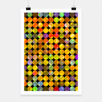 Miniaturka colorful geometric circle pattern abstract in orange yellow blue red Poster, Live Heroes