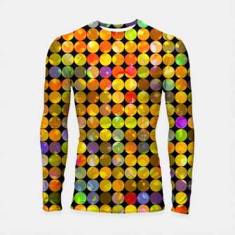 Miniaturka colorful geometric circle pattern abstract in orange yellow blue red Longsleeve rashguard , Live Heroes