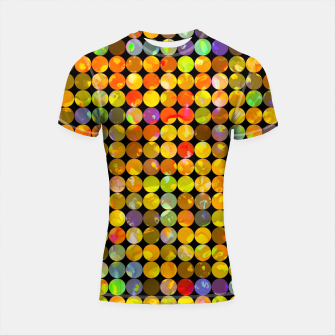 Miniaturka colorful geometric circle pattern abstract in orange yellow blue red Shortsleeve rashguard, Live Heroes