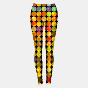 Miniaturka colorful geometric circle pattern abstract in orange yellow blue red Leggings, Live Heroes