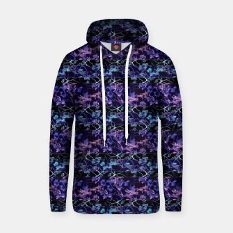 Thumbnail image of Dark Chinoiserie Vintage Floral Collage Cotton hoodie, Live Heroes