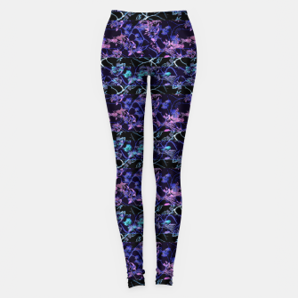 Thumbnail image of Dark Chinoiserie Vintage Floral Collage Leggings, Live Heroes
