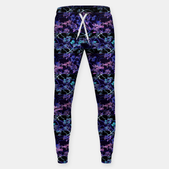 Thumbnail image of Dark Chinoiserie Vintage Floral Collage Cotton sweatpants, Live Heroes