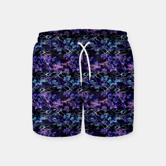 Thumbnail image of Dark Chinoiserie Vintage Floral Collage Swim Shorts, Live Heroes