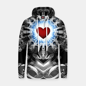 Thumbnail image of Heart Of The Glyphs Cotton hoodie, Live Heroes