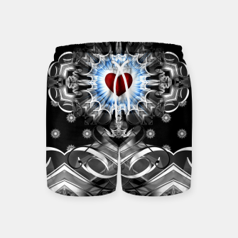 Thumbnail image of Heart Of The Glyphs Swim Shorts, Live Heroes