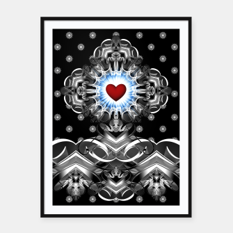 Thumbnail image of Heart Of The Glyphs Framed poster, Live Heroes