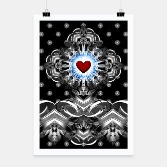 Thumbnail image of Heart Of The Glyphs Poster, Live Heroes