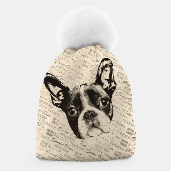 Thumbnail image of Boston Terrier Beanie, Live Heroes