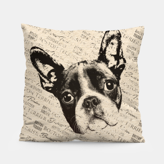 Thumbnail image of Boston Terrier Pillow, Live Heroes