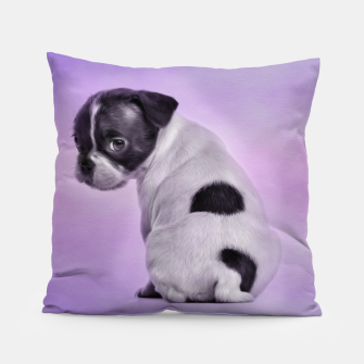 Thumbnail image of Boston Terrier dog Pillow, Live Heroes