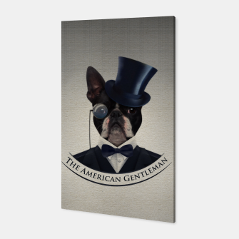 Thumbnail image of Boston Terrier dog Canvas, Live Heroes