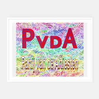 Thumbnail image of pvda Framed poster, Live Heroes