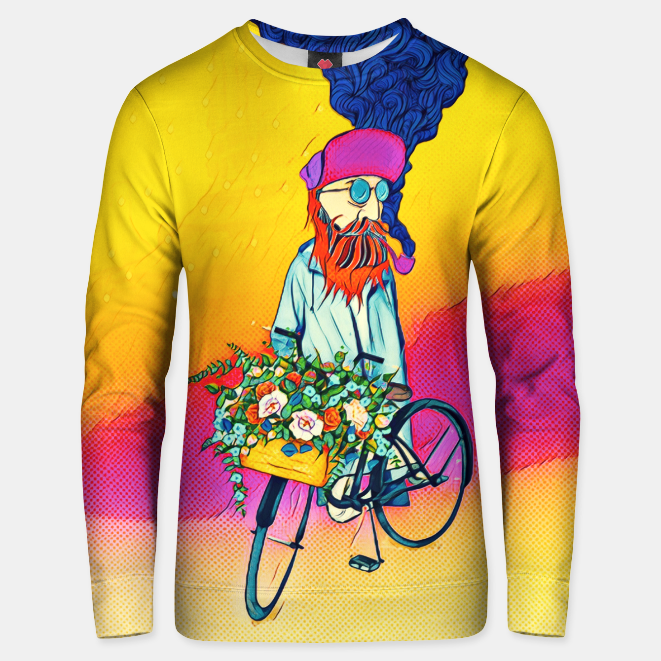 Zdjęcie Colourful Bicycle Cotton sweater - Live Heroes