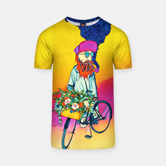 Thumbnail image of Colourful Bicycle T-shirt, Live Heroes